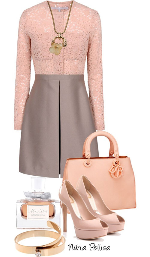 Spring Polyvore Combinations in Baby Pink: Elegance