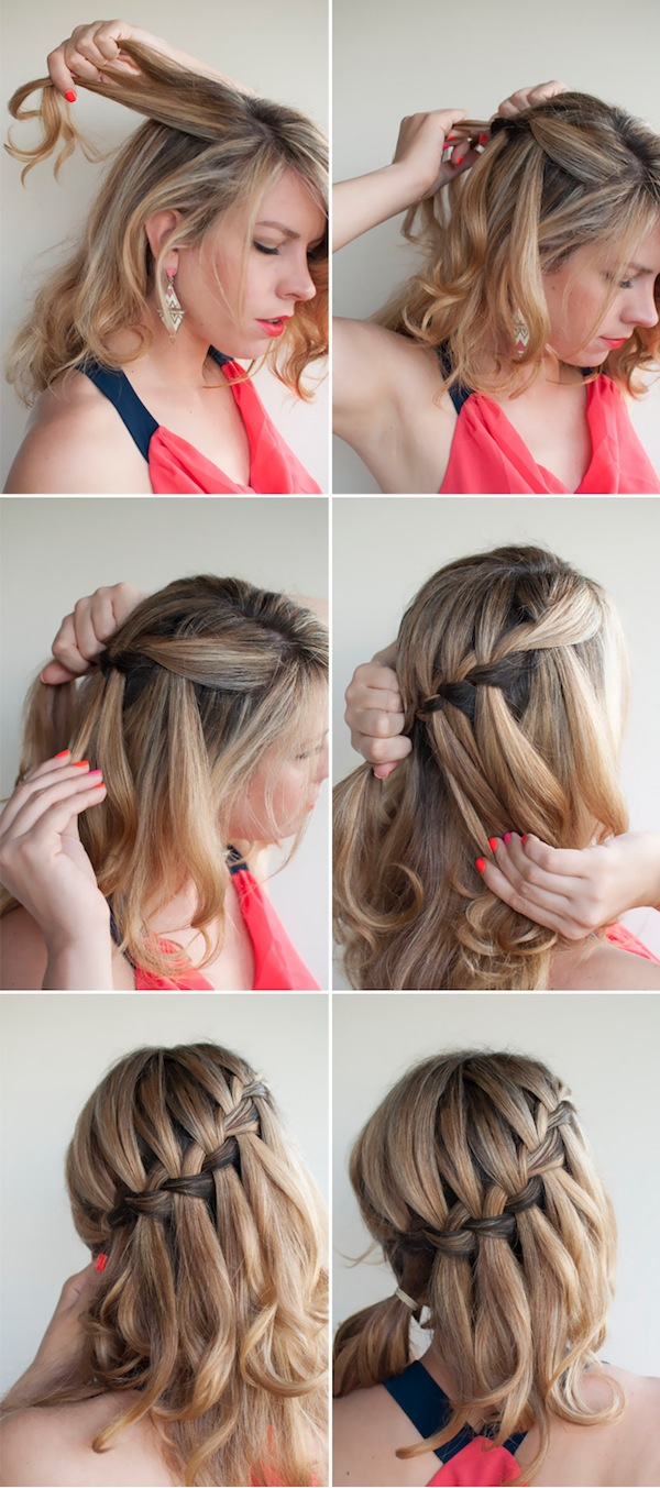 How to Make a Beautiful Waterfall Braid: Waterfall Braid