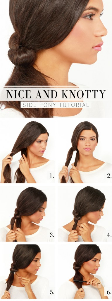 The Knotted Side Pony