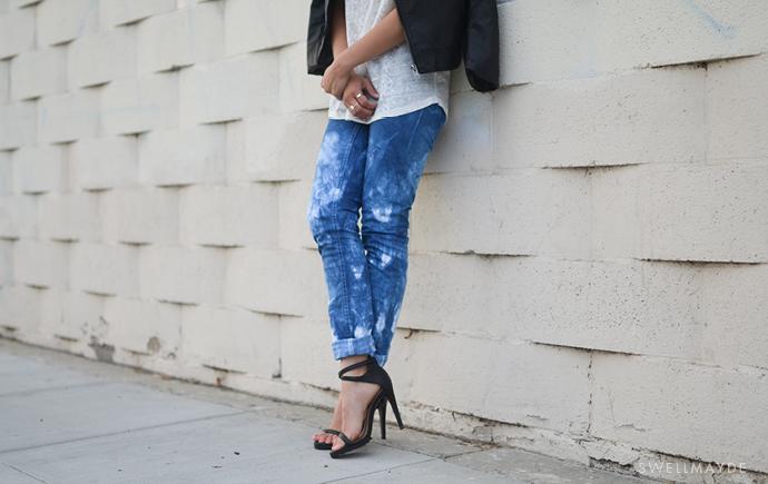 Tie Dyed Denim Jeans