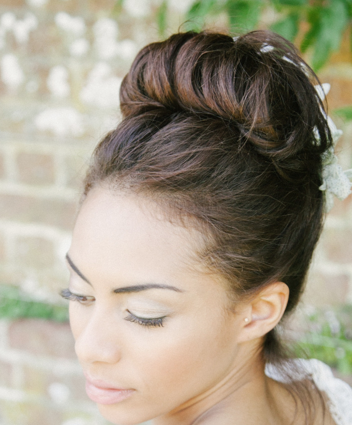 Top Bun Wedding Hairstyle