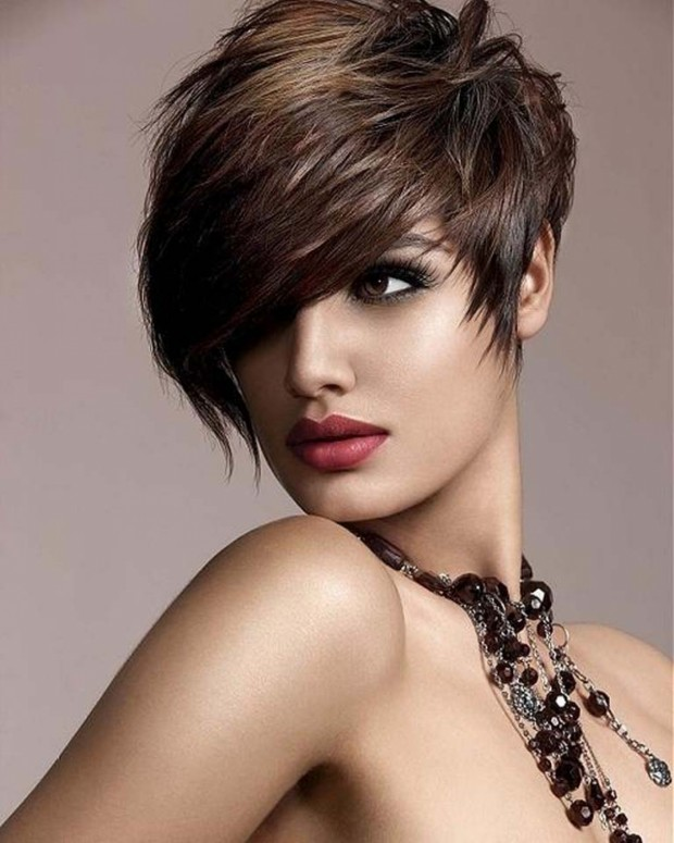 Pixie cut with side bangs - Trendy Short Hairstyles for 2014 via