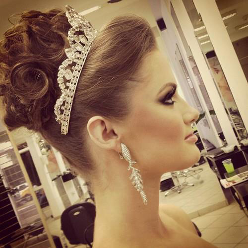 Vintage Curly Hair Updo Hairstyle Trend