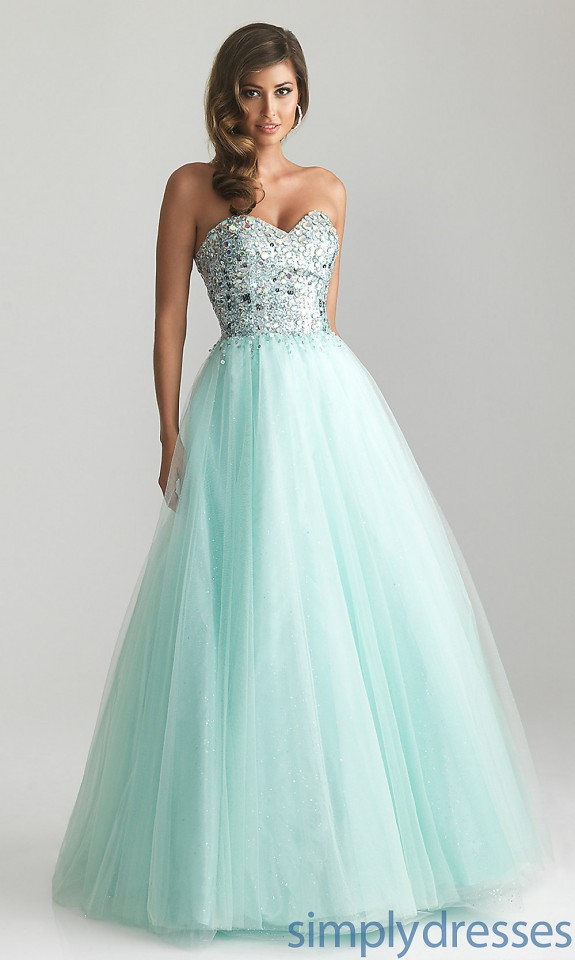 Water Blue Prom Dress