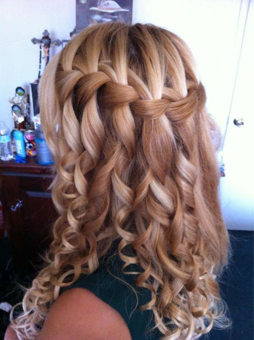 Awe Inspiring Waterfall Braid Tutorial For Curly Hair Braids Hairstyles For Women Draintrainus