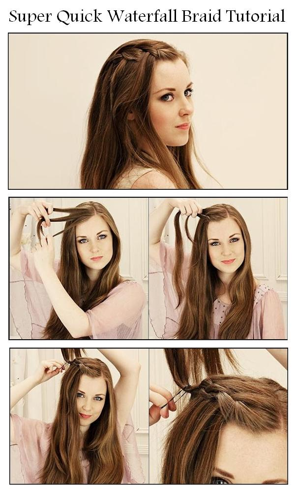 How to make a beautiful waterfall braid waterfall braid tutorials waterfall braid without bangs ccuart Image collections