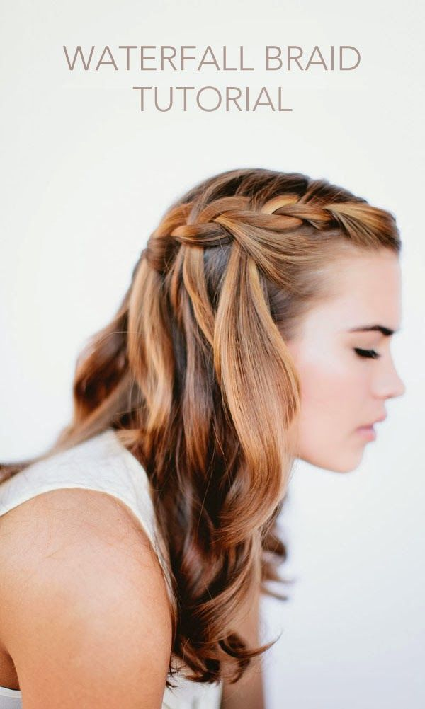 Waterfall Braids with Curls