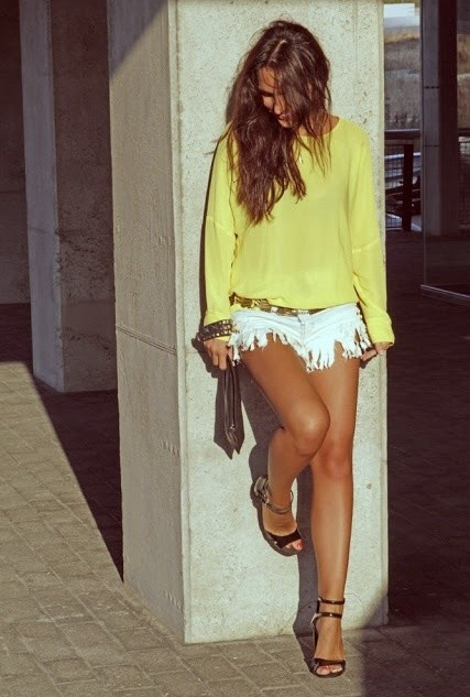 Yellow Blouse Outfit for Young Ladies