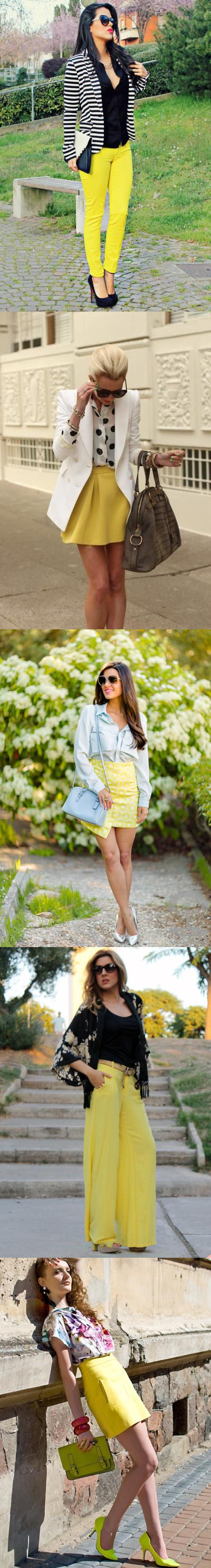 Yellow Skirts and Pants