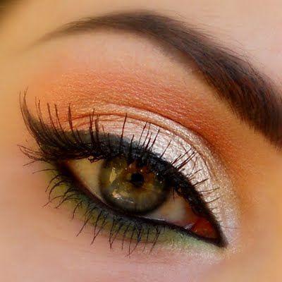 Orange Eye Makeup Ideas: Colorful Eyeliners