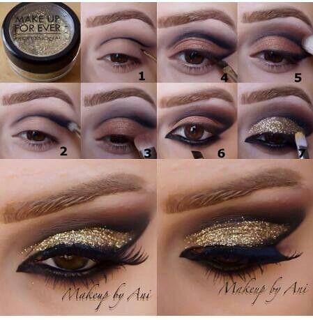 Stylish Glitter Eye Makeup Tutorials for Women