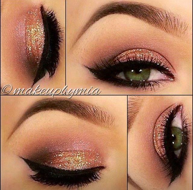 A Collection Of 40 Best Glitter Makeup Tutorials And Ideas For 2018 - Pretty Designs