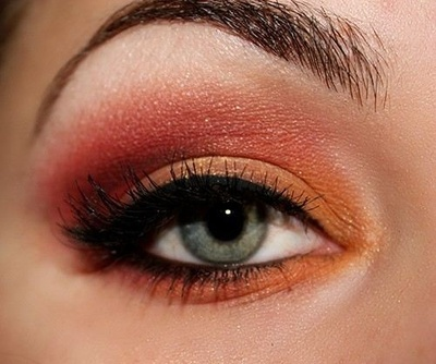 Orange Eye Makeup Ideas: Graduated Shades
