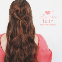 Half Up Half Down Hair for Elegant Hairstyle via