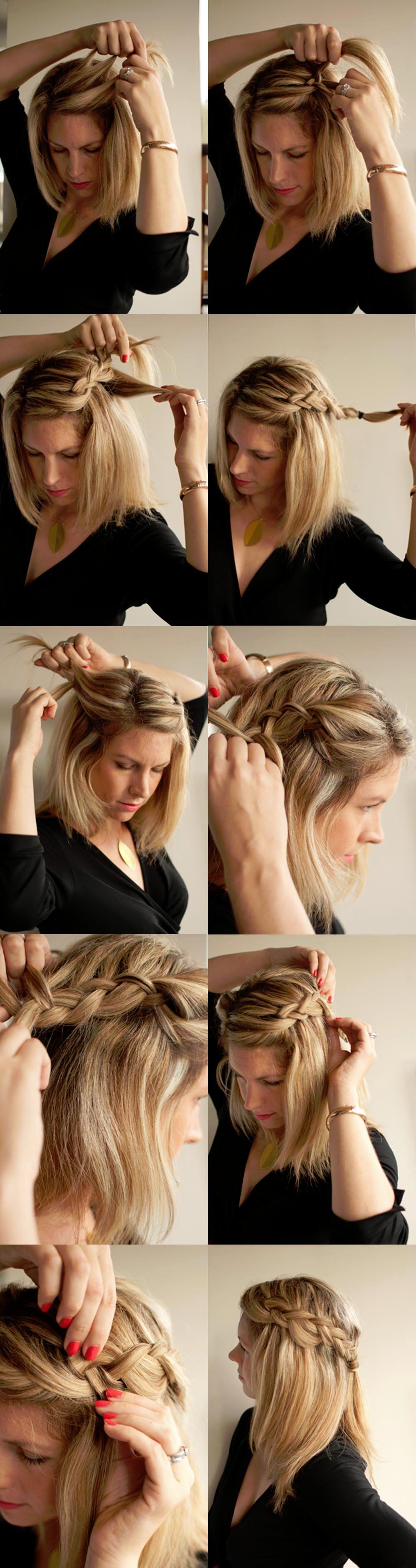 Быстрые и красивые прически на среднюю длину волос