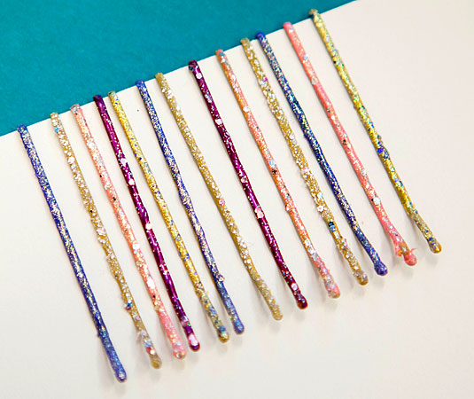 Paint your regular bobby pins a vibrant color