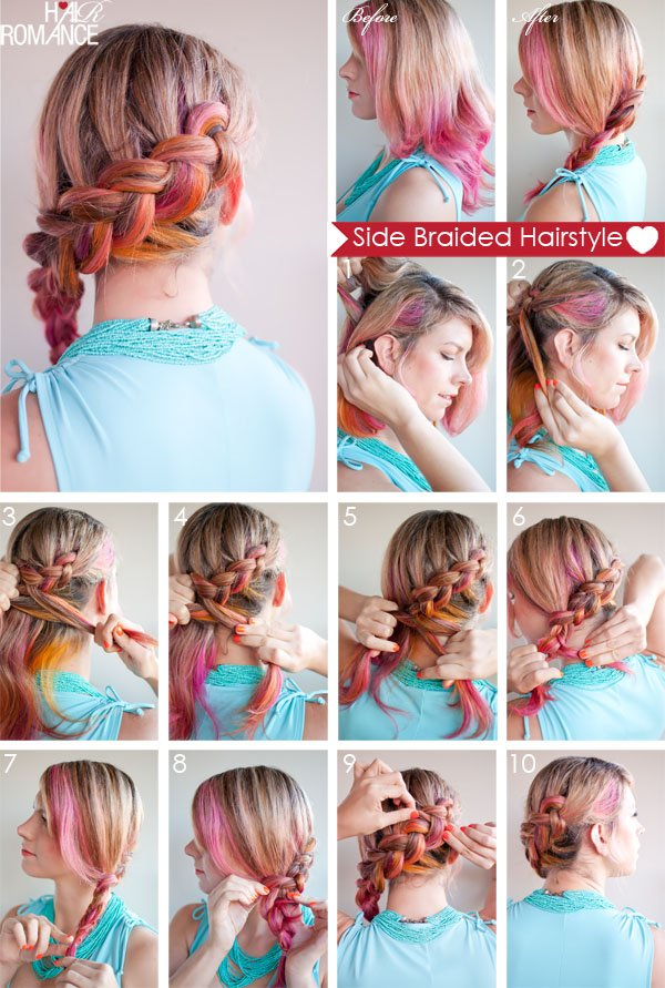5. SIDE BRAIDED HAIRSTYLE