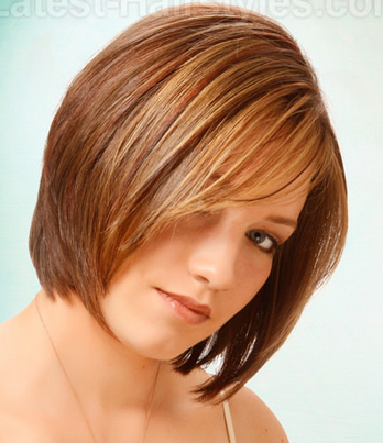 A Line Stacked Bob for Thick Hair