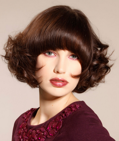 Beautiful Medium Haircut with a Round Fringe