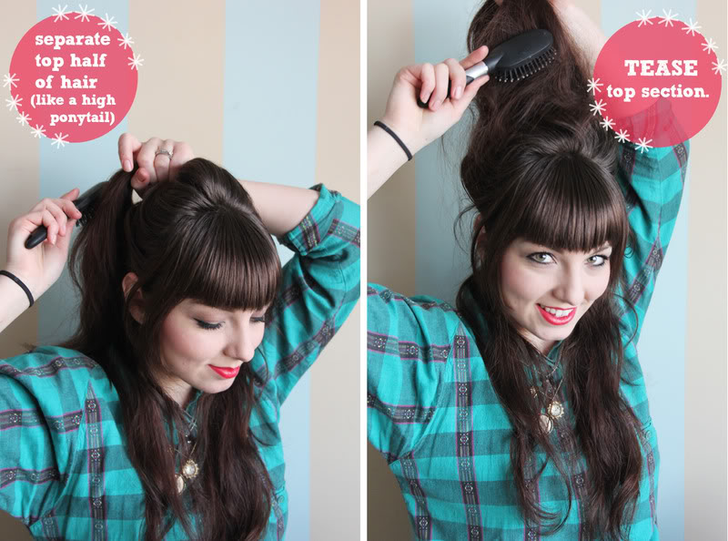 how to make a beehive hairstyle with curly hair