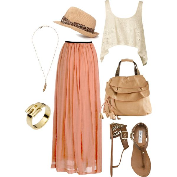 Beige Crop Top Outfit Ideas