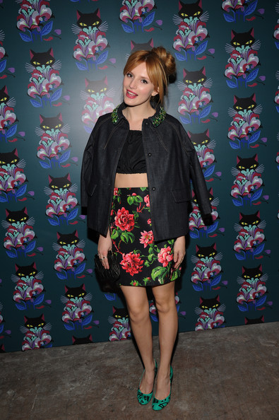 Bella Thorne's Floral Mini Skirts