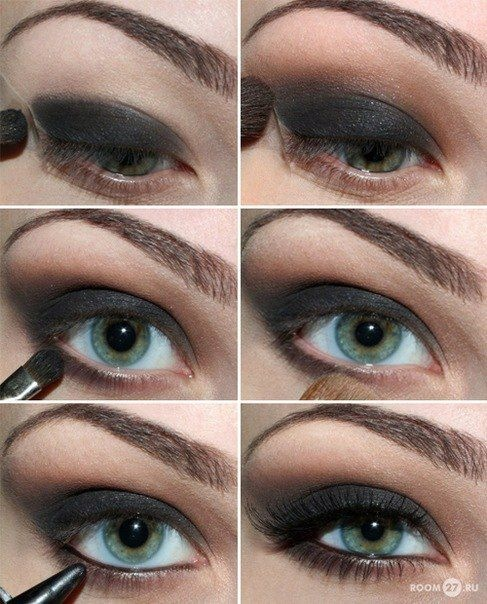 Black Eye Makeup for Green Eyes