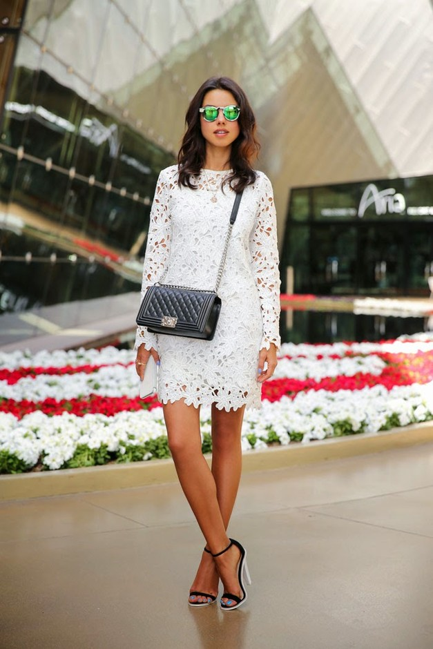 White Lace Dress Outfit Ideas White Lace Dress Outfit