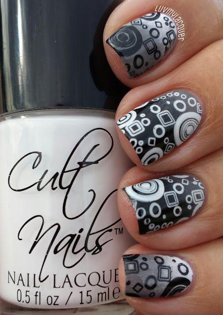 Black Stamping Nails
