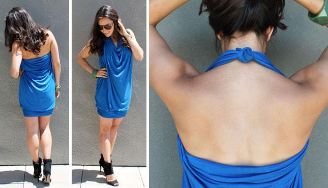 turn halter dress into strapless