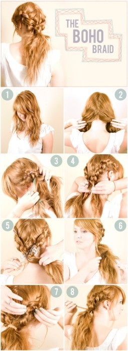 16 boho twisted hairstyles and tutorials pretty designs boho braided hairstyle tutorial solutioingenieria Image collections