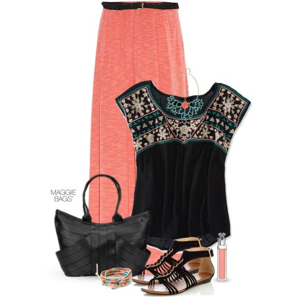 f9d540cc5f13 Pretty and Fresh Coral Outfits for Summer - Pretty Designs