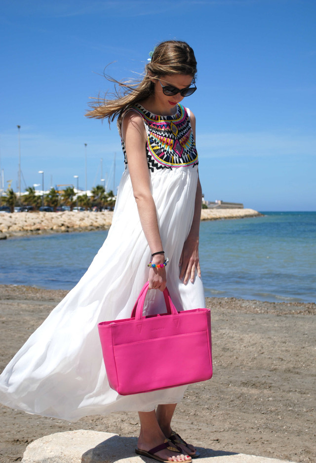 Boho Chic White Dress Outfit