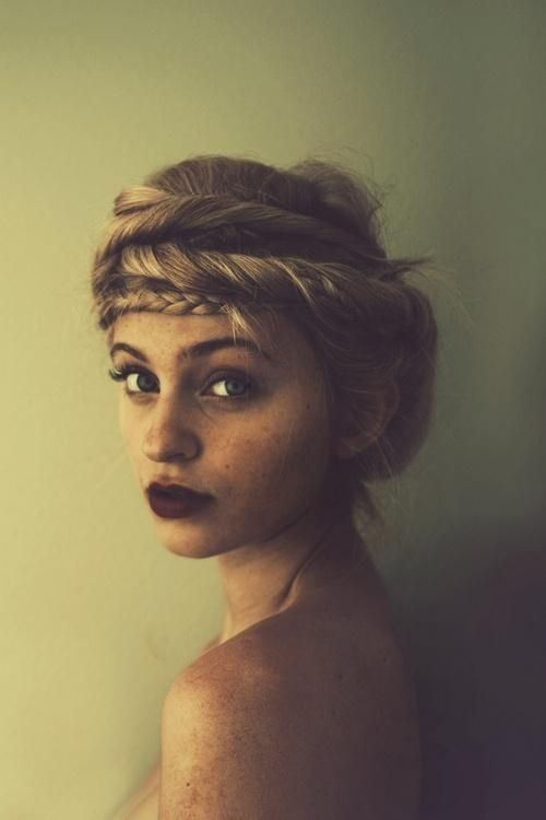 Boho Twisted Hairstyle with Braided Crown