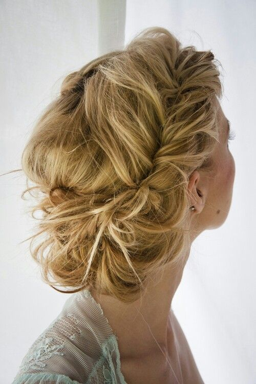 Boho Twisted Updo Hairstyle