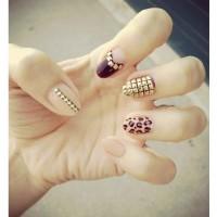 Bold Embellished Nails