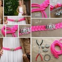 Braided Pink Belt