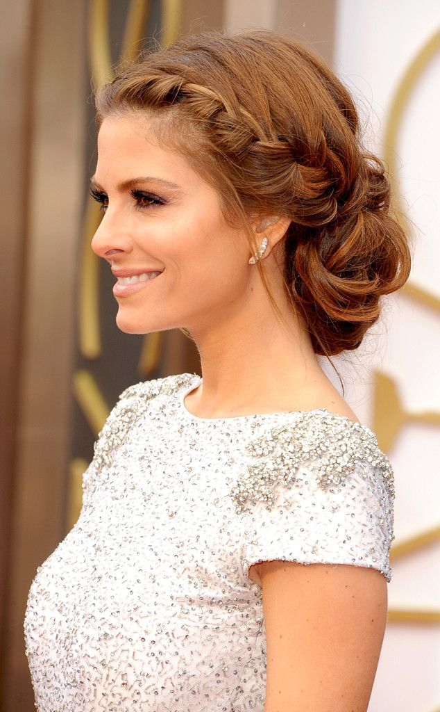 Braided Updo Hairstyle for Romantic Look