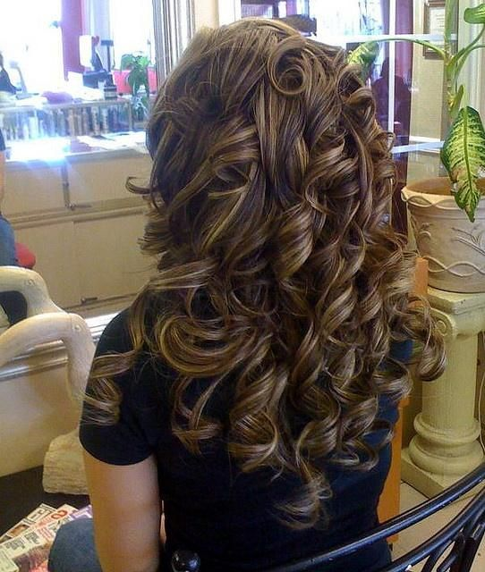 Brunette Textured Curls