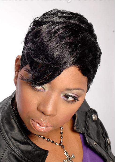 13 Fun Short Hairstyles for Black Hair - Pretty Designs