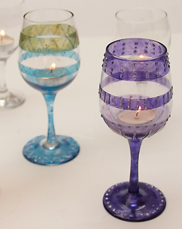 up wine glasses to parties diy wine glasses projects pretty designs - Wine Glass Design Ideas