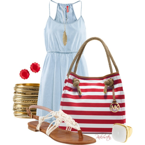 Casual-chic Dress Outfit Idea for Summer