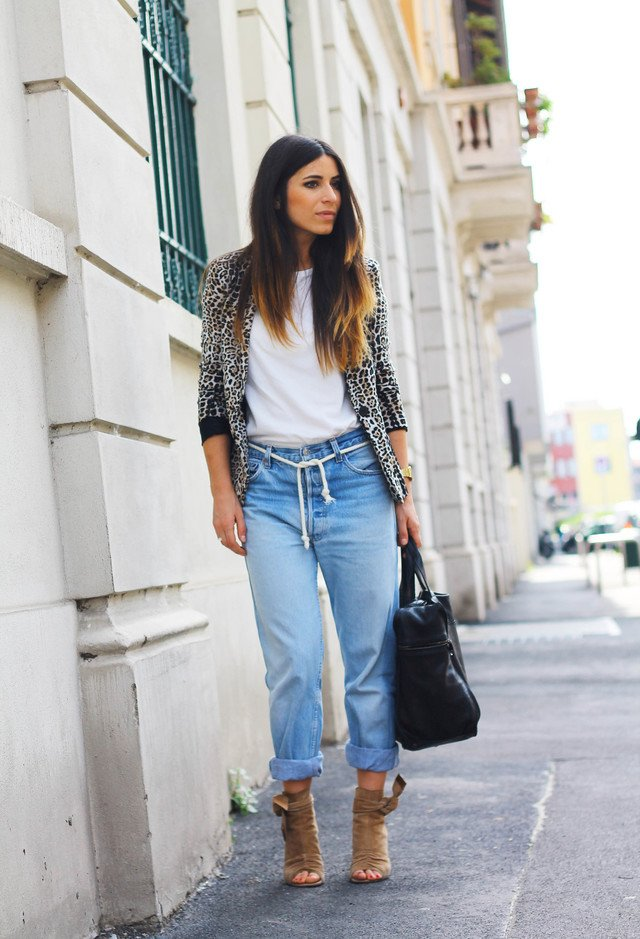 Casual-chic Outfit Idea with Animal Printed Jacket