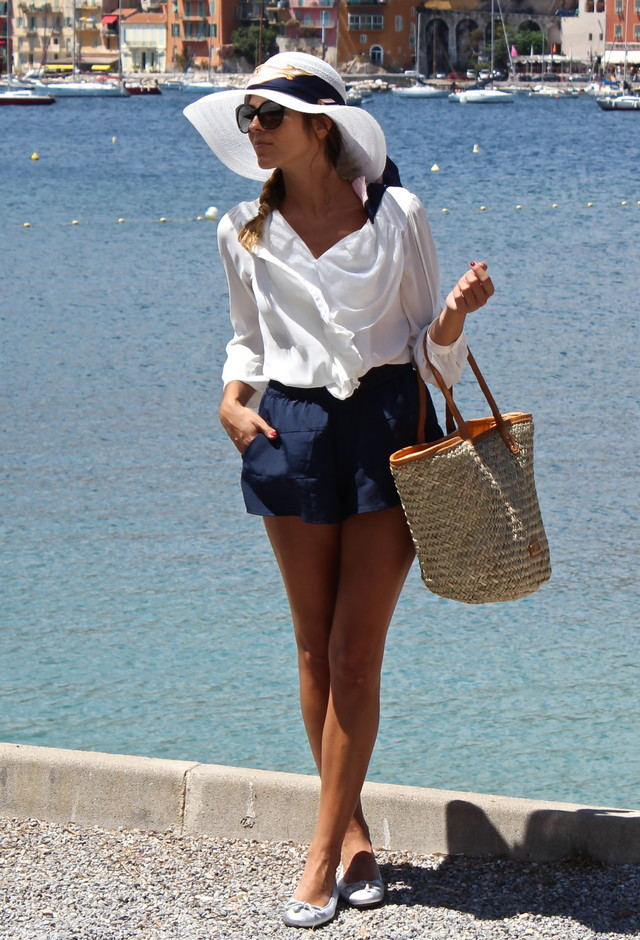 Casual Outfit Idea with White Blouse