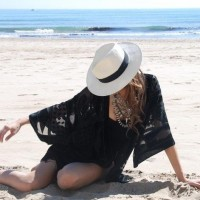 Chic Beach Look with Hat