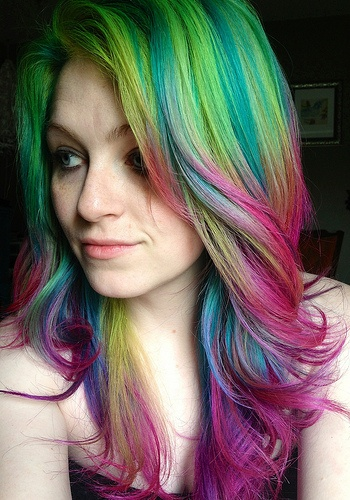 Chic Rainbow Ombre Hair