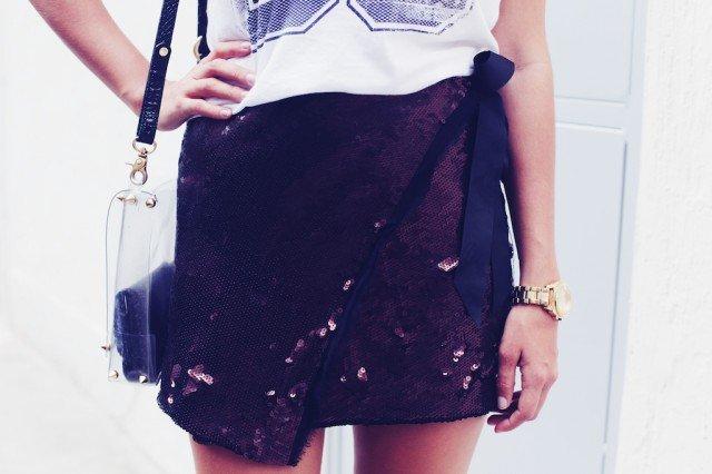 Chic Sequin Skirt
