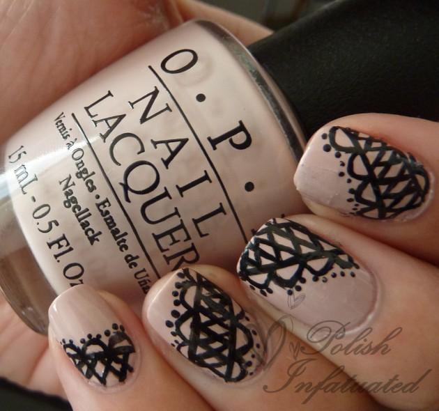Classic Lace Nail Art Idea
