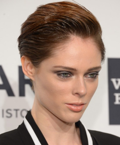 Coco Rocha Sleek Hair