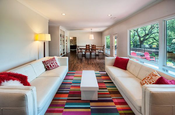 How to Upgrade Your Living Room: Colorful Carpets - Pretty Designs